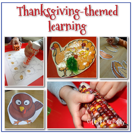 Thanksgiving-themed learning >> Gift of Curiosity